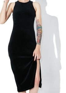Juicy couture black label fitted velour dress